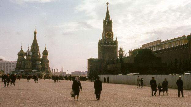 La Plaza Roja en 1973.