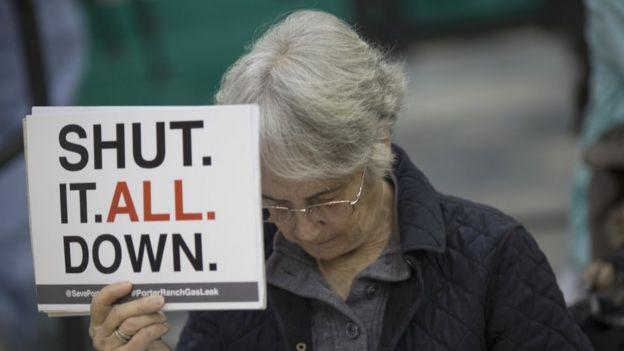 Protesta contra la planta de gas del cañón de Aliso