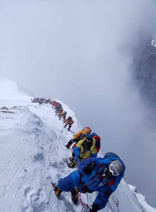 Montañeros en el Everest.