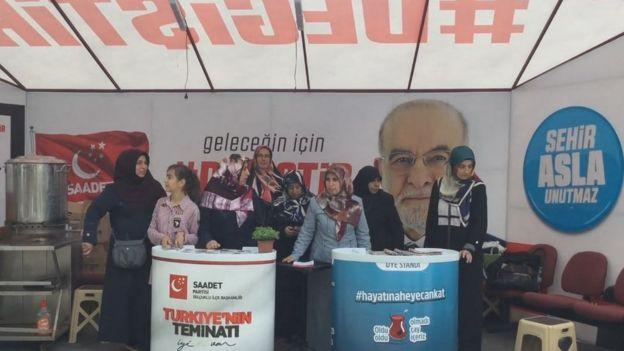 Konya'da Saadet Partililer