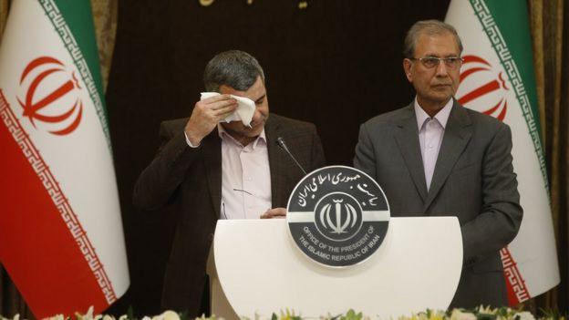 Замминистра здравоохранения Ирана на пресс-конференции