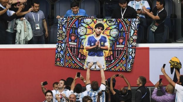 Maradona is revered by Argentina fans
