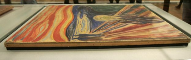 The Edward Munch masterpieces ' The Scream' and 'Madonna' are shown to the press, 26 September 2006 in Oslo,