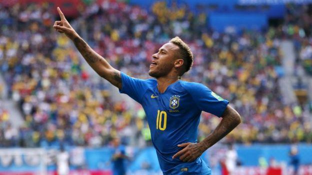 Neymar celebra su gol frente a Costa Rica.