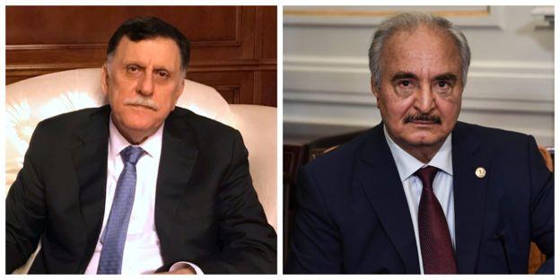 Prime Minister Fayez al-Serraj and General Khalifa Haftar