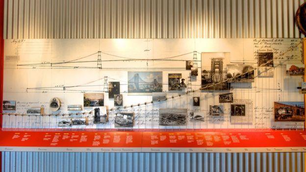 Vista de objetos expuestos en el Museo de Roebling. (Foto: Ferdinand W. Roebling III/Archivo del Museo de Roebling)