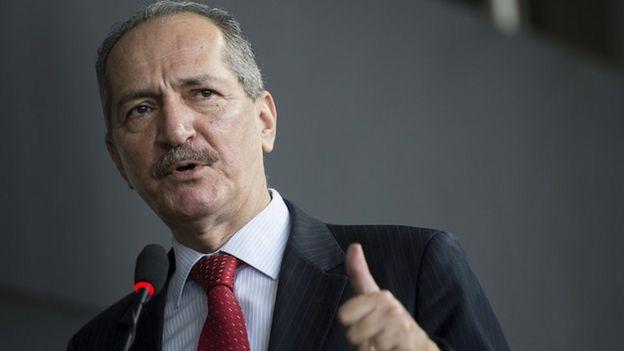 Aldo Rebelo em 28-01-2015 quando era Ministro da Ciência e Tecnologia