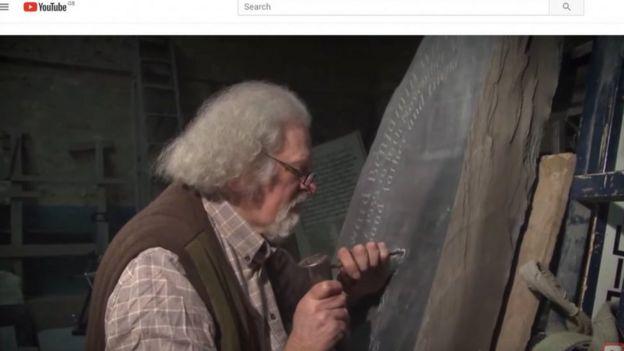ASMR: Stone carver Ieuan Rees is unwitting YouTube hit - BBC News