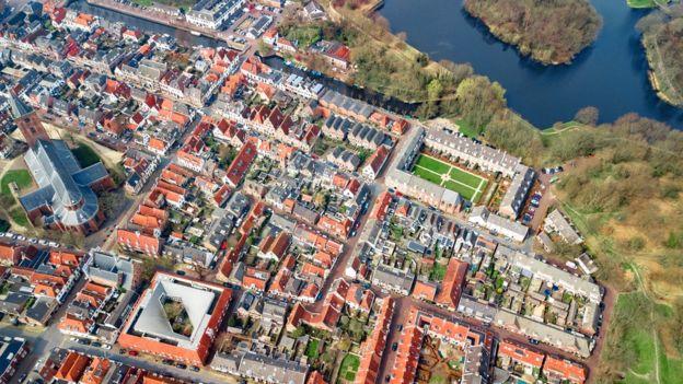 Vista aérea de Naarden