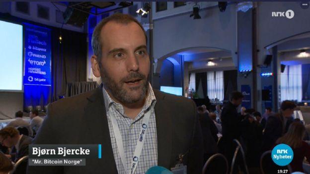 Bjorn Bjercke on Norwegian television