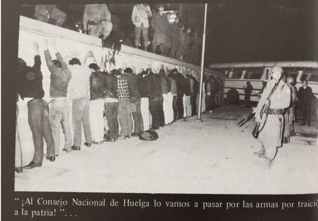 Represión de estudiantes.
