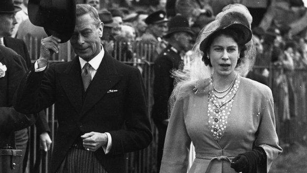 Y Brenin George VI a'r Dywysoges Elizabeth