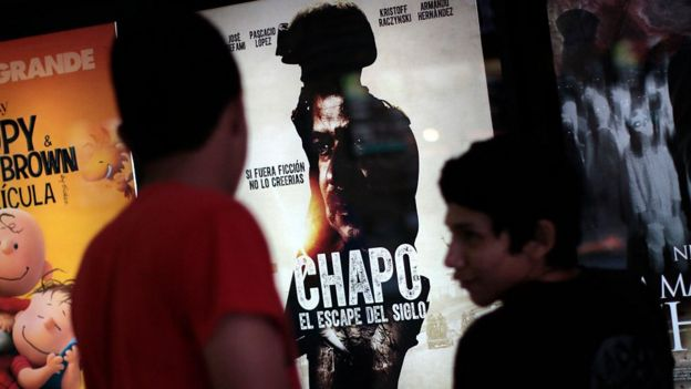 "A poster for a film about ""El Chapo"""