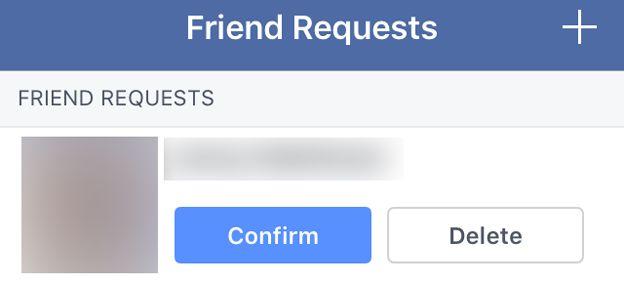 A Facebook friend request