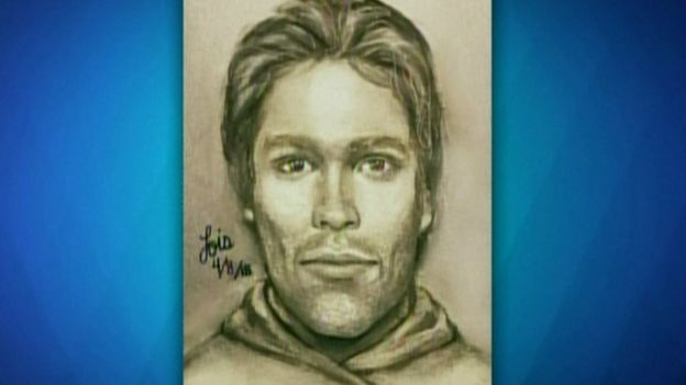 Sketch of man who threatened Stormy Daniels in a Las Vegas car park in 2011