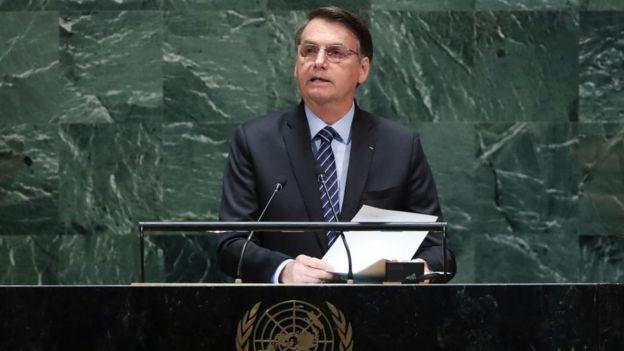 Jair Bolsonaro ante la Asamblea General de Naciones Unidas
