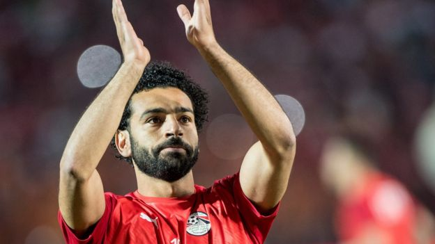 Mohamed Salah during the 2019 Africa Cup of Nations