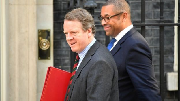Scottish Secretary Alister Jack and Conservative Party chairman James Cleverly
