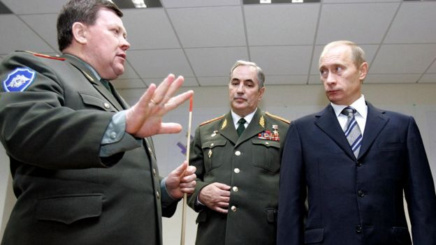 El presidente de Rusia, Vladimir Putin, reunido con miembros de la Dirección Principal de Inteligencia (GRU, por sus siglas en ruso).
