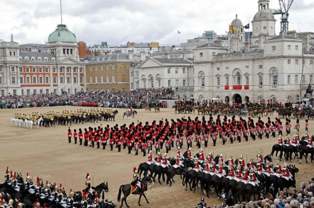 The Trooping the Colour at Horseguards Parade