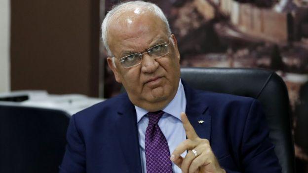 صائب عریقات، دبیر کل سازمان آزادیبخش فلسطین
