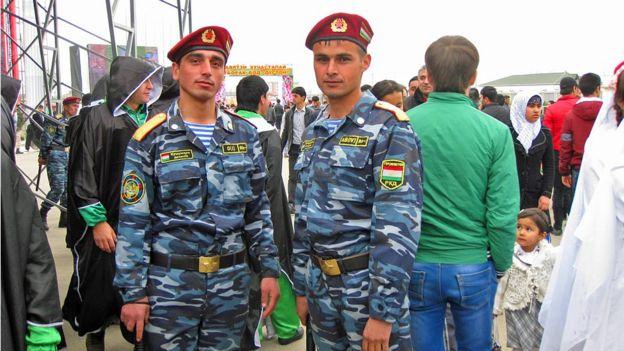 таджикские милиционеры
