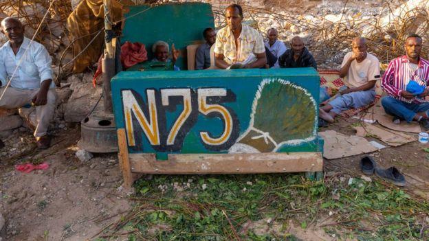 Khat sellers n75, Woqooyi Galbeed region, Hargeisa, Somaliland on August 4, 2019 in Hargeisa, Somaliland