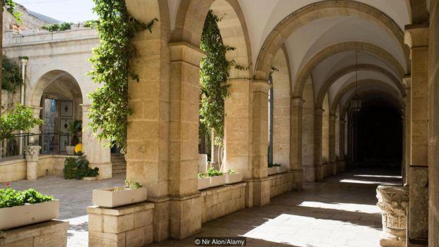 Mosteiro da Flagelação, que abriga o Museu Terra Santa de Jerusalém