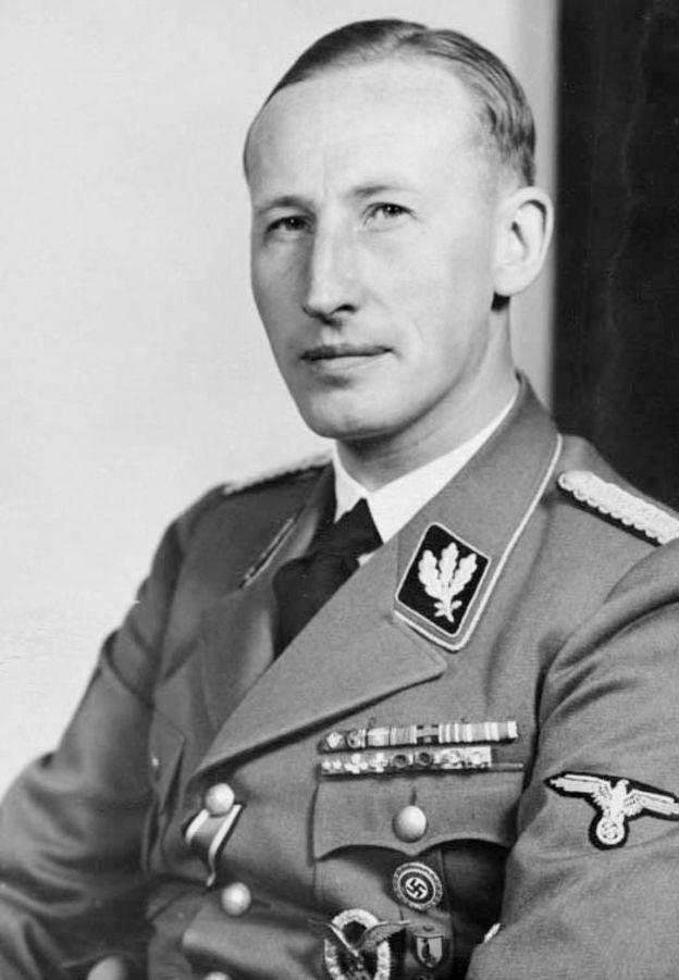 Reinhard Heydrich, o oficial nazista que concebeu a operação Reinhard, de extermínio sistemático dos judeus.