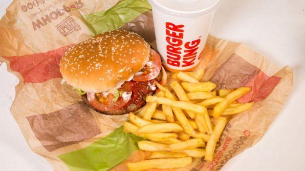 Comida de Burger King.