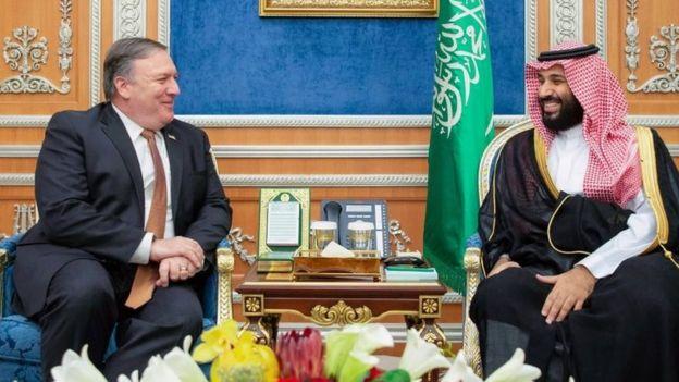 ABD Dışişleri Bakanı Mike Pompeo ve Suudi Arabistan Veliaht Prensi Muhammed bin Selman