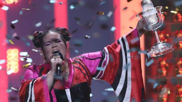 Netta winning Eurovision 2018