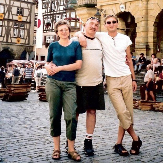 Julia, Vlad y Baruch en Alemania.