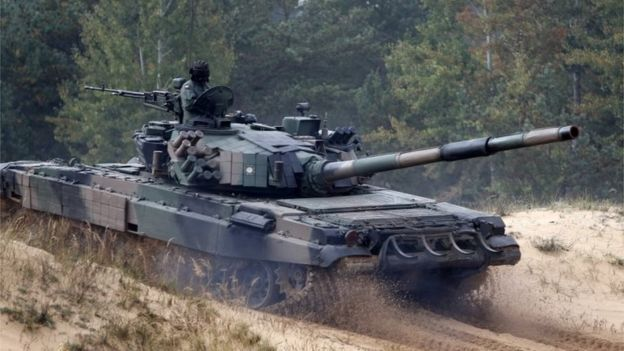 Polish tank takes part in Nato military exercise, 5 October 2019
