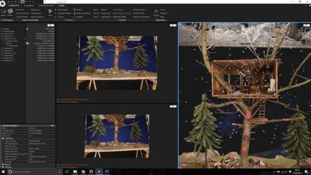 A screenshot of photogrammetry software