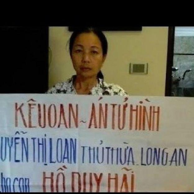 Bà Nguyễn Thị Loan, mẹ Hồ Duy Hải, đã kêu oan cho con suốt 12 năm
