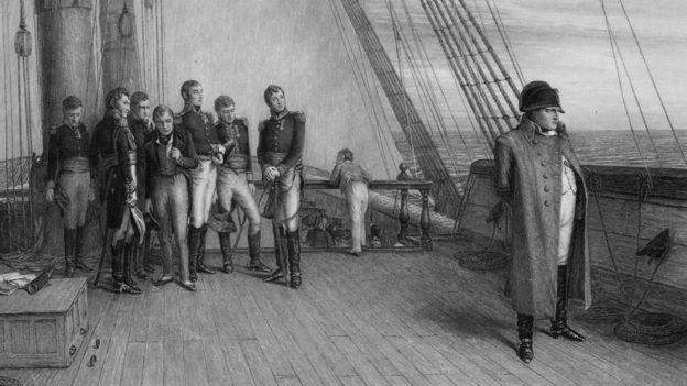 بونابرت على ظهر سفينة