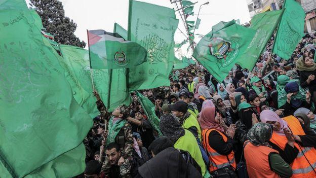 gazze'deki hamas mitingi 14 aralık 2019