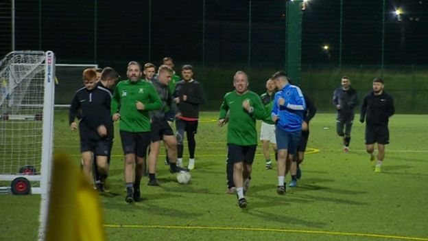 St Joseph's AFC training