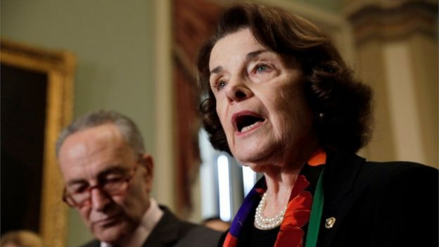 What did the fbi inquiry into kavanaugh result in bbc news senator feinstein speaks with reporters m4hsunfo