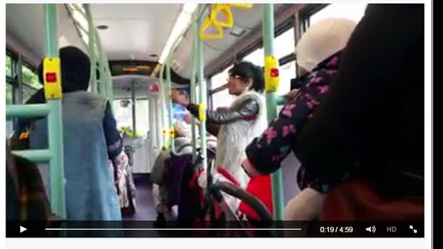 screenshot from the bus