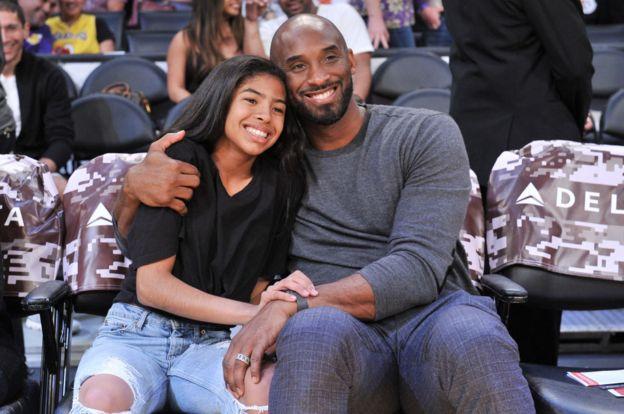 Gianna w'imyaka 13 na se Kobe bakundaga kuba bari kumwe ku mikino ya NBA