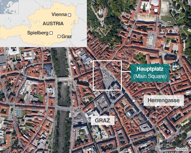 Map of Graz