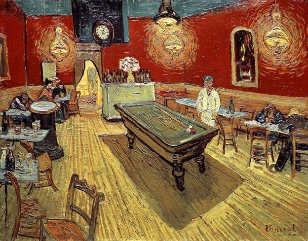 O café noturno na Place Lamartine en Arles, de Vincent Van Gogh