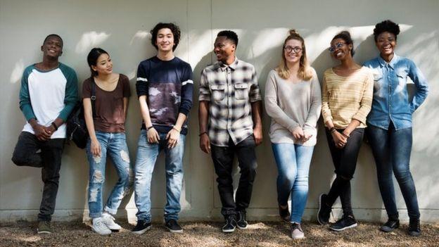 Grupo de adolescentes