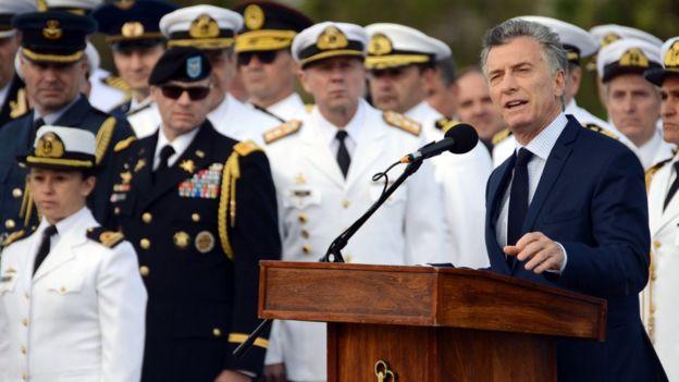 Mauricio Macri discusa