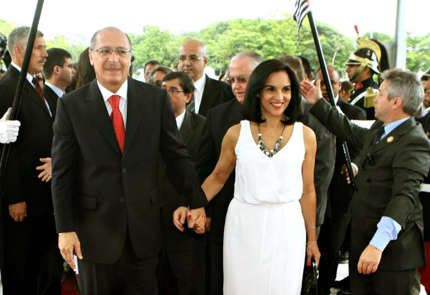 Geraldo e Lu Alckmin