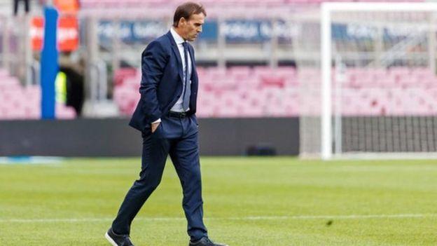 Julen Lopetegui alikuwa mkufunzi wa Real Madrid kwa miezi minne na nusu