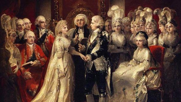 Свадьба будущего короля Георга IV и Каролины Брауншвейгской