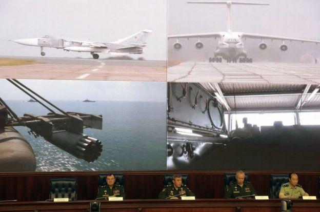 俄中兩國在論壇期間舉行了冷戰結束以來規模最大的軍事演習